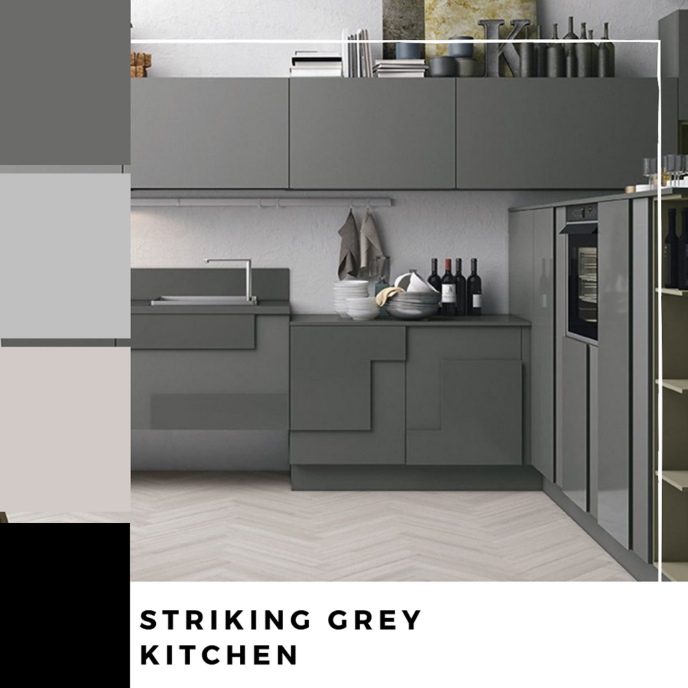 Striking Grey Kitchen