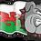 Thumbnail: Name Stickers Skull or Bulldog with Flag