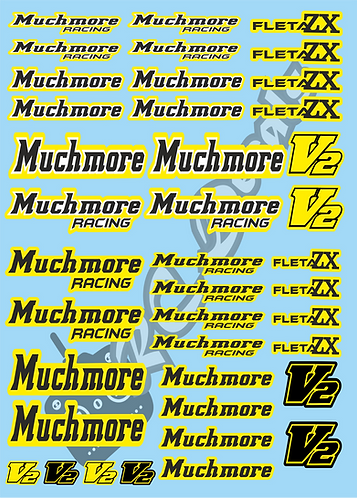 MuchMore Decals Choice of Colours Available