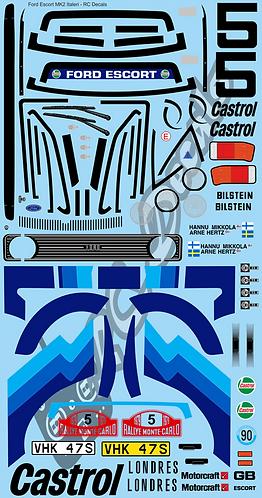1/10 Decal Rally Set Ford Escort MK2 Italeri
