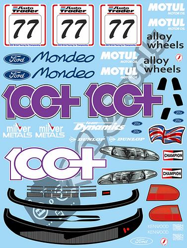 1/10 Touring Car Decal Sticker Set BTCC Ford Mondeo 100+ 1995