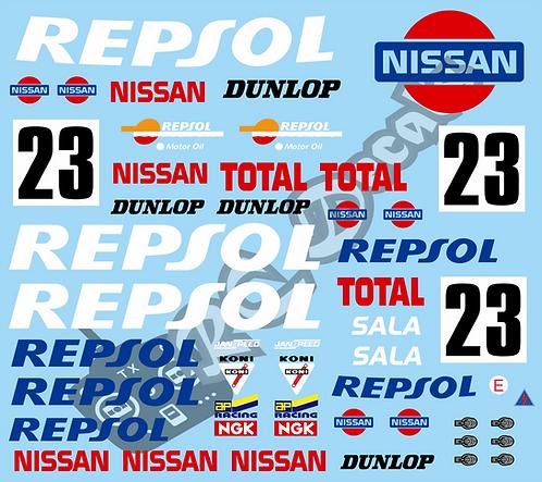 1/10 GT Car Decal Set Nissan Skyline GT-R  Repsol R32