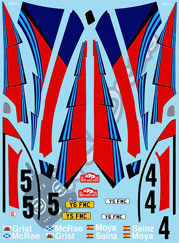 1/10 Decal Rally Set Ford Focus RS WRC 2002