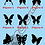 Thumbnail: Butterflies Silhouettes - Choice of Colours