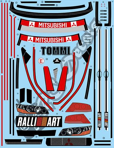 1/10 Decal Rally Set Mitsubishi Lancer Evo VII 2001