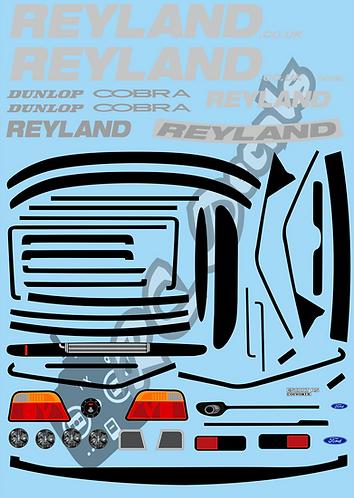 1/10 Decal Rally Set Ford Escort Cosworth Reyland