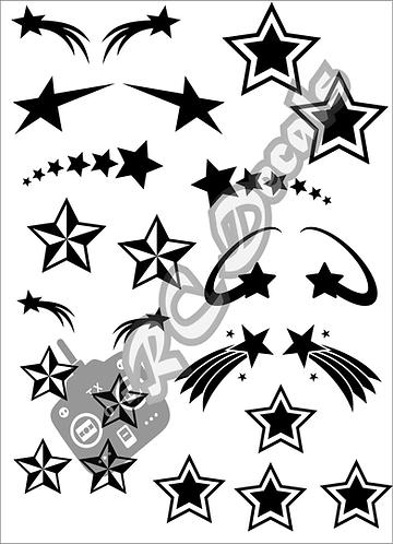 RC Airbrush Stencil Masks Stars Style 1 for Lexan for Bodyshell