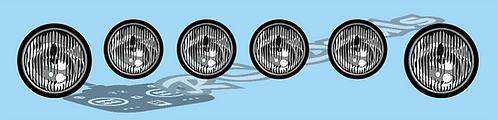 1/10 Ford Escort or similar fog light set