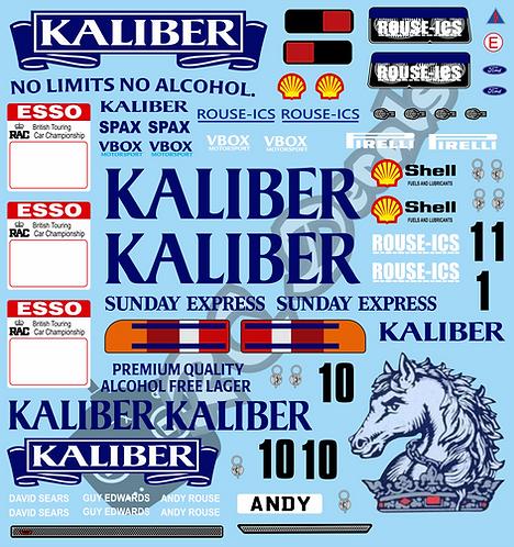 1/10 Touring Car Decal Sticker Set BTCC Ford Sierra Kaliber 1989