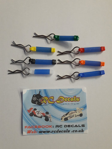 RC Body Clips with Blue Tubing