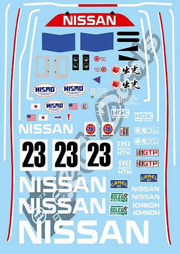 1/10 GT10 Decal Sticker Set Nissan R91CP 1991