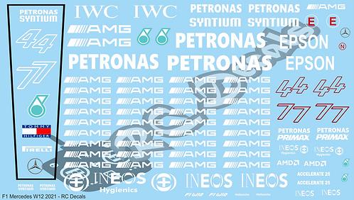 F1 1/10 Decal Mercedes W12 2021