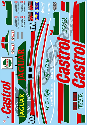 1/10 GT10 Decal Sticker Set Nissan R91CP 1991
