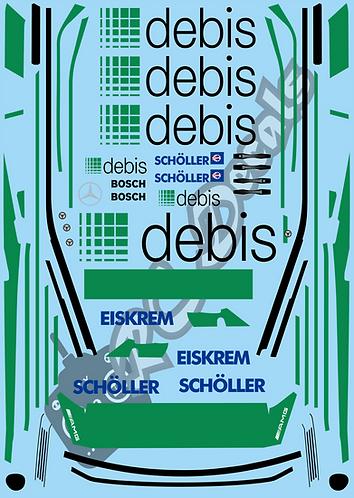 1/10 Touring Car Decal Sticker Set DTM Mercedes 190E - Debis