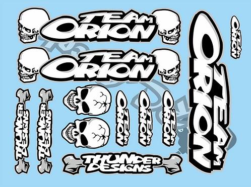 Vintage Team Orion Decal Set