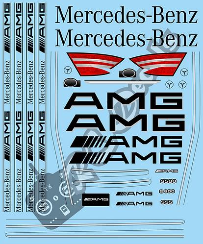 1/10 Touring Car Decal Set Mercedes AMG S-Class