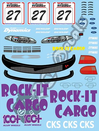 1/10 Decal Set BTCC Ford Mondeo - Rock- It  Cargo 1996