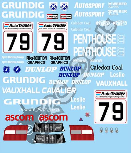 1/10 Touring Car Decal Sticker Set BTCC Vauxhall Cavalier Ecurie Ecosse 1993