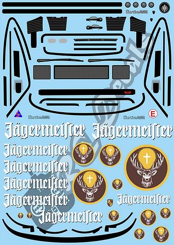 1/10 GT Car Decal Set Porsche RSR 934 Jagermeister