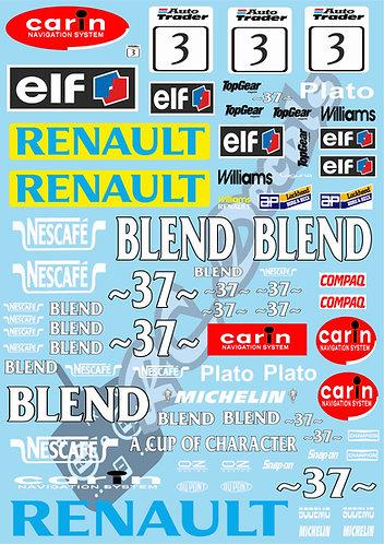 1/10 Touring Car Decal Sticker Set BTCC Renault Laguna 1997