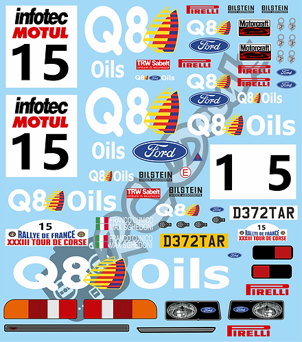 1/10 Decal Rally Ford Sierra Cosworth - Q8 1991