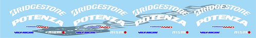 1/8 Bridgestone Tyre & Mag Wheel Logo