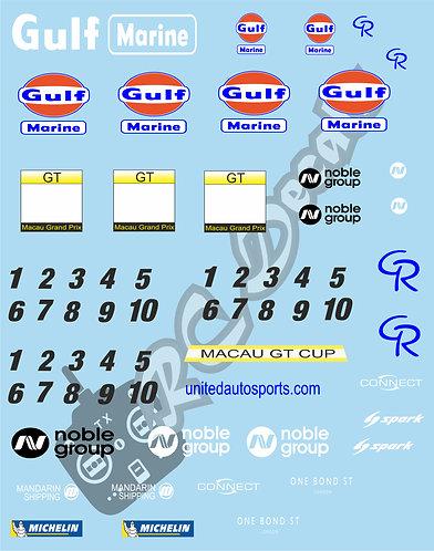 GT12 Livery Decal Set Mclaren GT3 - Macau GT