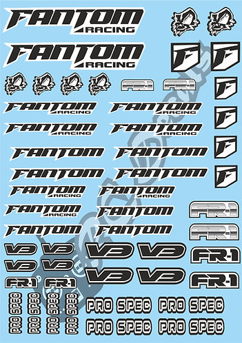 Fantom V3 Decals Choice of Colours Available