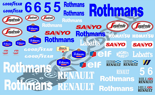 F1 1/10 Decal Williams FW17 1995 - Choice of tyre logo