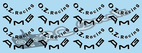 1/10 Tamiya AMG & OZ Racing Wheel Stickers
