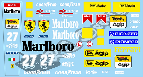 F1 1/10 Decal Ferrari 412 T2 1995  - Choice of tyre logo