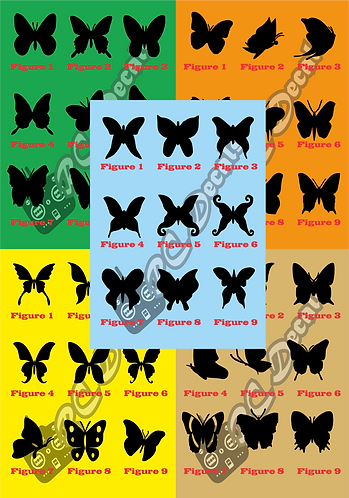 Butterflies Silhouettes - Choice of Colours