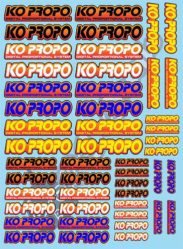 KO Propo Decals Choice of Colours Available