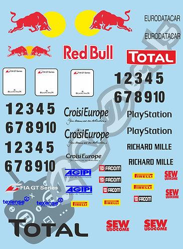 GT12 Livery Decal Set Mclaren GT3 Red Bull