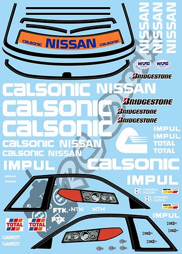 1/10 Decal Set JTCC Nissan Skyline GT-R R32 Calsonic 1991