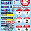 Thumbnail: 1/10 Touring Car Decal Sticker Set BTCC Vauxhall Cavalier 1992