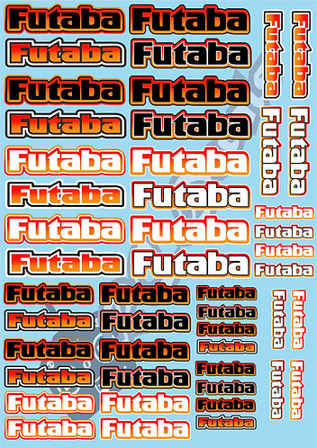 Futaba Decals Choice of Colours Available