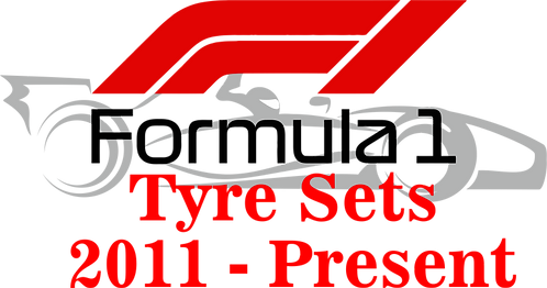 1/10 F1 tyre logo 2011-present choice of colours