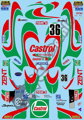 1/10 GT Decal Set Castrol Tom's Supra 2000