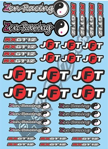 Zen Racing & JFT Tire Decals Choice of Colours Available