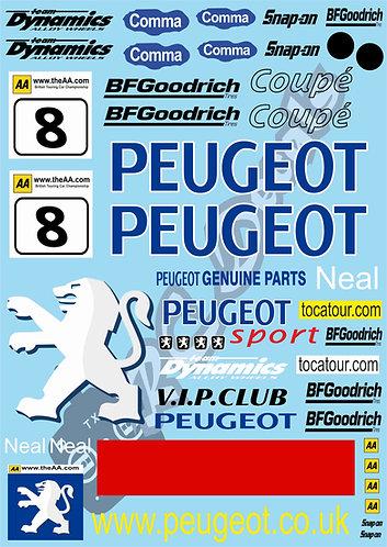 1/10 Touring Car Decal Sticker Set BTCC Peugeot 406 2001