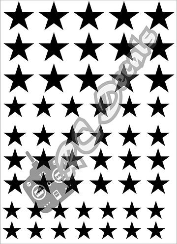 RC Airbrush Stencil Masks Stars Style 2 for Lexan for Bodyshell