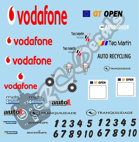 GT12 Livery Decal Set Mclaren GT3 Vodafone