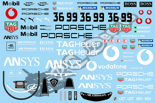 Formula -E TAG Heuer Porsche Formula E Team Porsche 99X Electric