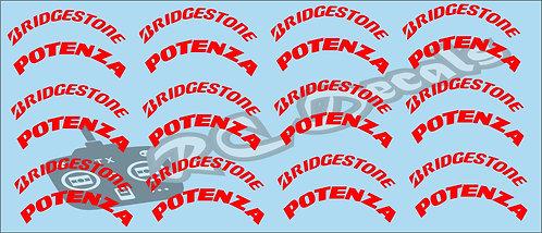 F1 Tires logos - Bridgestone - Red