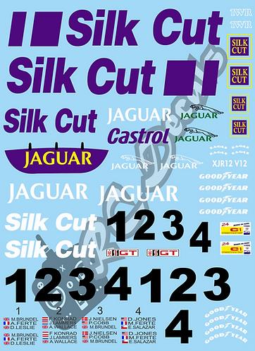 1/10 GT10 Decal Sticker Set Jaguar XJR V12 Silk Cut 1990