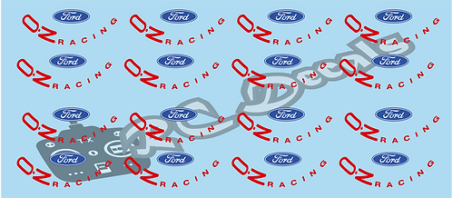 1/10 Tamiya Ford & OZ Racing Wheel Stickers Blue or Red
