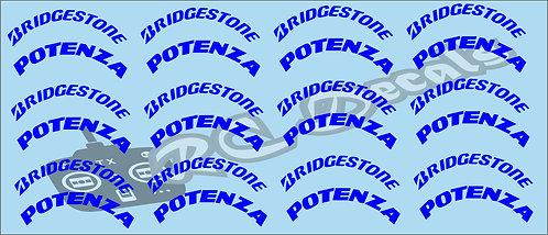 1/10 F1 Tires logos - Bridgestone - Blue