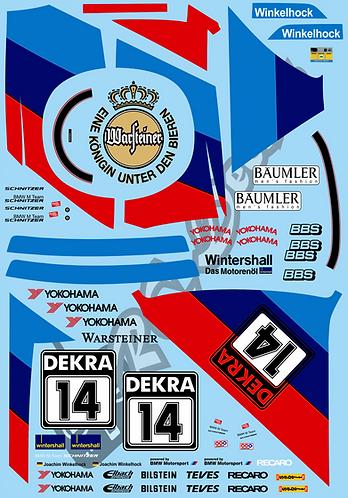 1/10 Touring Car Decal Sticker Set BMW M3 Schnitzer DTM 1992