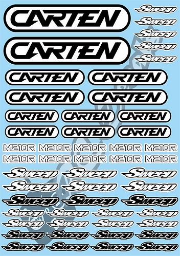 Carten - M210R - Sweep Decals Choice of Colour
